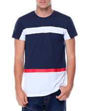 T-Shirts - S/S Coloblock Zipper Side Crew Neck Tee