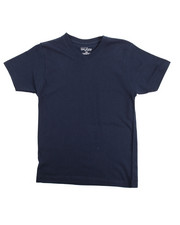 Boys - V-Neck Solid S/S Tee (8-20)