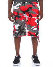 Men - Camo Belted Cargo Shorts
