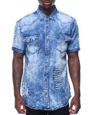 Buyers Picks - Washed Denim Vintage Patches Shirt