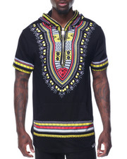 T-Shirts - S/S Tribal Printed Hoody