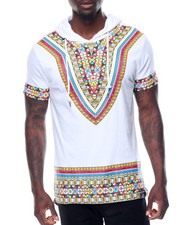 Men - S/S Tribal Printed Hoody