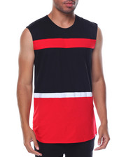 Buyers Picks - Sleeveless Zipper Sides Color Block Tee