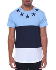 Buyers Picks - S/S Coloblock Zipper Side Crew Neck Tee