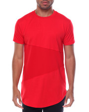 T-Shirts - Mesh Color-block Tee