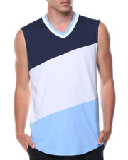 T-Shirts - Sleeveless Color Block Tee