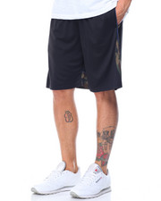 Basic Essentials - Camo Trim Mesh Basketball Shorts