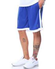 Basic Essentials - Solid Stripe Mesh Basketball Shorts