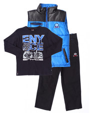 Enyce - 3 PC SET - PUFFER VEST, TEE, & JEANS (4-7)