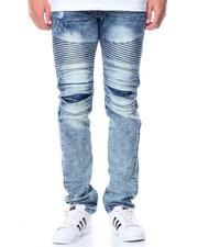 Men - Premium Wash Moto Jeans