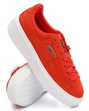 Footwear - Suede Platform Sneakers