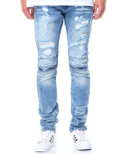 Spring-Summer-M - Pleated Knee Jeans