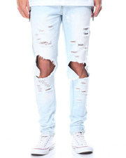 Men - Ripped Knee Denim