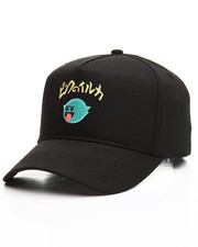 Hats - Ghost Script Snapback Hat