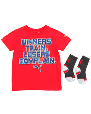Puma - Graphic Tee & Sock Set (4-7)