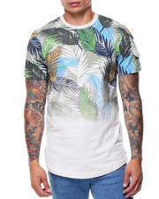 T-Shirts - S/S Feather Print Crew Neck Tee