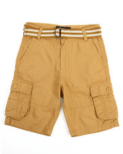 Bottoms - Belted Cargo Shorts (8-18)