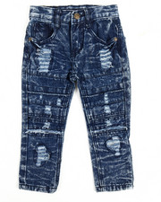 Bottoms - Rip Knee Moto Jeans (2T-4T)