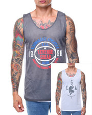Shirts - Graphic Mesh Reversible Tank