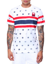 T-Shirts - S/S Star Printed Crew Tee
