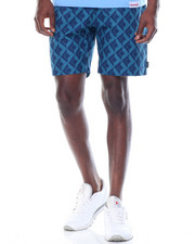 Men - Diamond Tile Belted Shorts