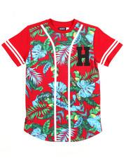Boys - Floral Baseball Tee (8-20)