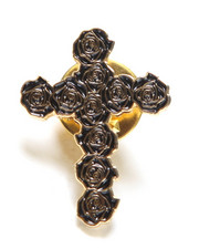 Accessories - Rose Cross Unisex Pin