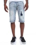 Patches Stretch Denim Shorts