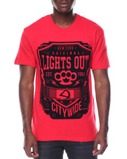 Men - Lights Out Flocked Tee
