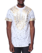 T-Shirts - Tribal Foil Printed Tee
