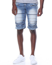 Men - Pleated Knee Short W/Zippers