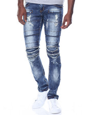 Men - Multi Paneled Rip Jean