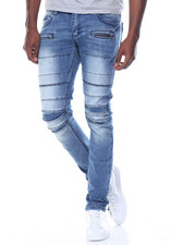 Kilogram - Pleated Knee Denim Jean