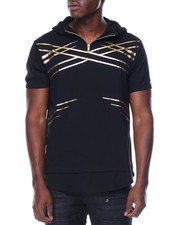 Buyers Picks - Gold Foil Criss Cross Pattern On S/S Hoody