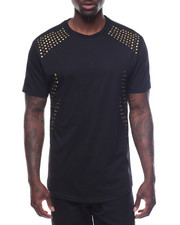 T-Shirts - Multi Studded Crew Neck Tee