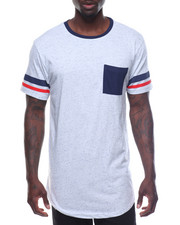 Men - S/S Stripe Sleeve Tee