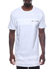 Men - Long Length Tee W/ Tonal Stripes