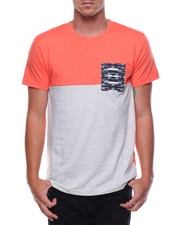 Buyers Picks - S/S Colorblock Pocket Tee