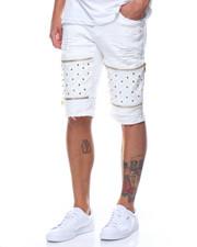 Shorts - Studded Vegan Leather Insert Short