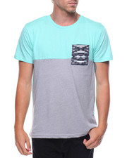 Men - S/S Colorblock Pocket Tee
