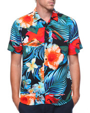 Shirts - S/S Hawaiian Print Shirt