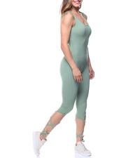 summer-womens - Tie-up Leg Tank Capri Catsuit