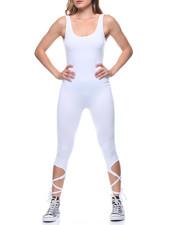 Fashion Lab - Tie-up Leg Tank Capri Catsuit