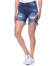 Women - Denim Destructed Bermuda