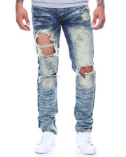 Jeans - Ripped & Dyed Denim