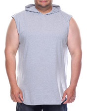 Tanks - Hooded Tank Top With Side Zipper (B&T)