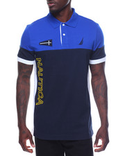 Men - Short Sleeve Logo Block Polo