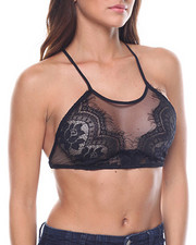 Women - Sheer Front Bra/X Back