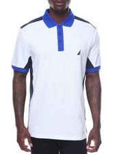 Men - Pique Color Block Short Sleeve Polo