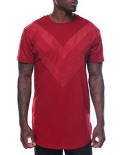 Men - Mesh V-paneled Trim Tee